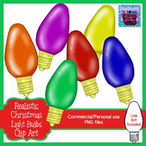 Realistic Christmas Light Bulbs Clipart