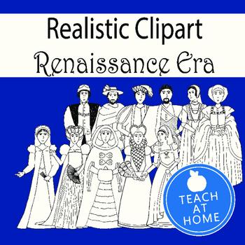Realistic Clipart - Renaissance Era Clipart - Men and Wome