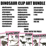 Realistic Dinosaur Clip Art Bundle - 80+ Images