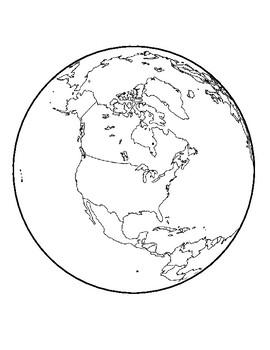Realistic Earth Template North America Center Earth Page Earth ...