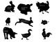 Farm Animal Clip Art Silhouette Illustrations