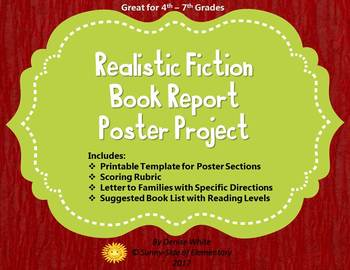 Realistic Fiction Book Report Project