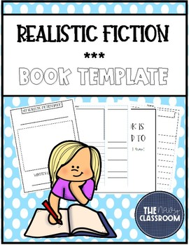 Realistic Fiction Book Template 2