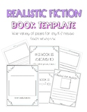Realistic Fiction Book Template