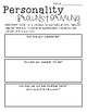 Realistic Fiction Brainstorming Pages