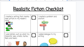 Realistic Fiction Checklist