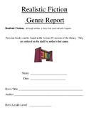 Realistic Fiction Genre Book Report