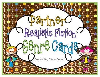 Realistic Fiction Genre Partner Cards