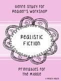 Realistic Fiction Genre Study - Printables for the Middle