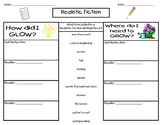 Realistic Fiction Glows and Grows sheet