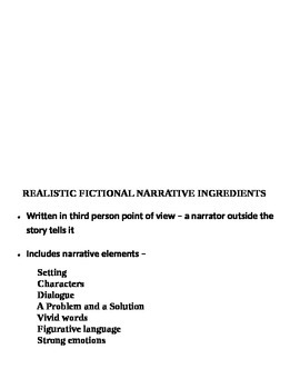 Fictional Narratives Writing Lesson Plan