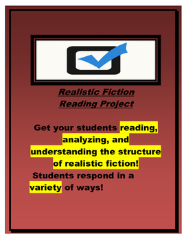 Realistic Fiction Book Report: Reading Response Pages (genre/novel study)