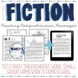 Realistic Fiction Reading Comprehension Passages & questions 4th 5th, no prep