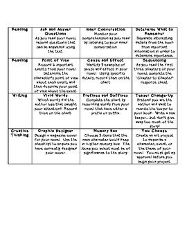 Realistic Fiction Reading Contract