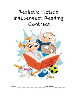 Realistic Fiction Reading Contract By Kf Third Grade Tpt