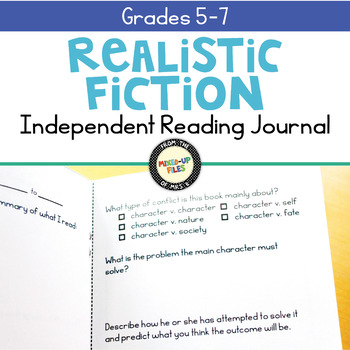 Realistic Fiction Reading Response Journal
