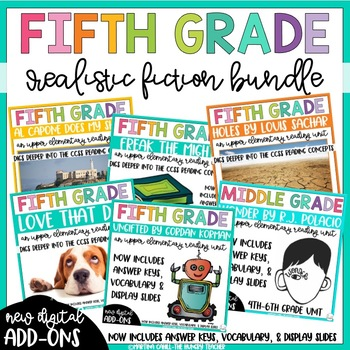Fifth Grade Reading Unit - Realistic Fiction Bundle