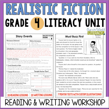 Realistic Fiction Reading & Writing Unit: Grade 4...40 Lessons with CCSS!!