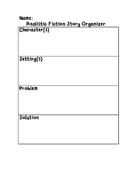 Realistic Fiction Story Graphic Organizer