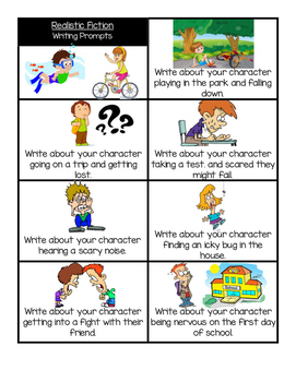 Realistic Fiction Writing Prompts