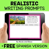 Realistic Fiction Writing Prompts for Google Classroom