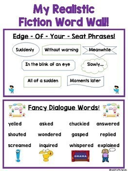 Realistic Fiction Writing Unit Materials
