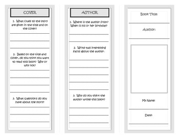 Realistic Fiction genre trifold