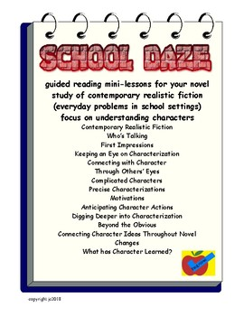 Realistic Fiction guided reading mini lessons