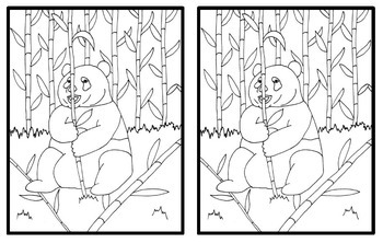 Realistic Giant Panda Coloring Page