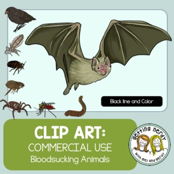 Animal Clip Art - Bloodsucking Halloween  {Commercial Use}