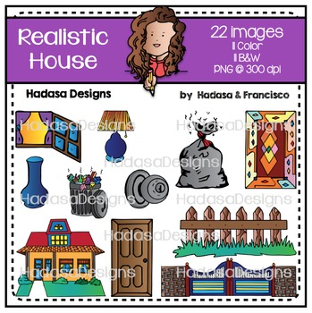 Realistic House Clip Art Set