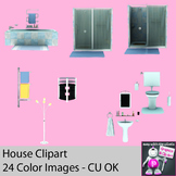 Realistic Household Appliance Clipart - Bathroom, Living R