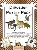 Realistic Looking Dinosaur Poster Pack (Complete Set of 26)