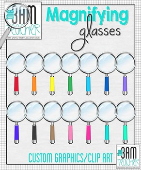 Realistic Magnifying Glass Clipart / Graphics