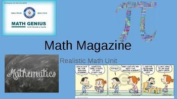 Realistic Math Unit: Math Magazine
