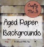 Realistic Parchment / Aged Paper Digital Page Backgrounds