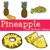 Realistic Pineapple Clipart