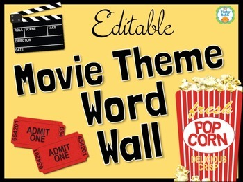 Word Wall - Popcorn Movie Theme