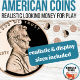 Large Printable Coins Front & Back, Realistic Printable Play Money Manipulatives