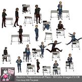Realistic Teenagers (Tweens) Prepositions of Place Clip Art - Grammar Clipart