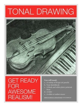 Realistic Tonal Drawing Assignment