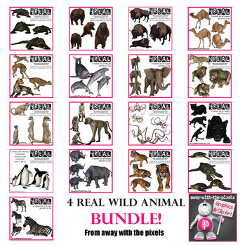 Realistic Wild Animal 72 Image BUNDLE - save $$$$ From Away With The Pixels