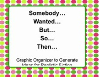 Somebody Wanted But So Then Graphic Organizer- #realisticfiction