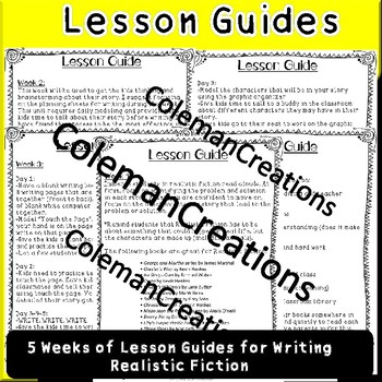 Realistic Fiction Writing Guide with Graphic Organizers (2nd grade)