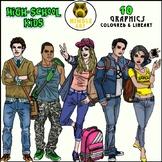 High School Kids Clipart