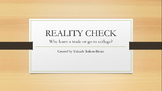 Reality Check Motivational Course for Reluctant Students