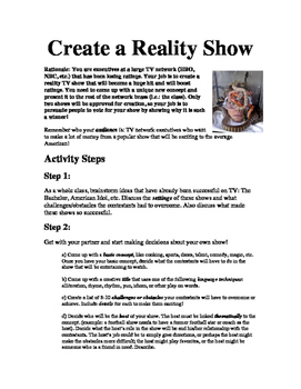 Reality Show Group Presentations