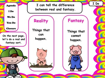 Reality and Fantasy: Flipchart and Worksheets