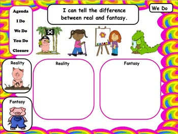 Reality and Fantasy: PowerPoint and Worksheets