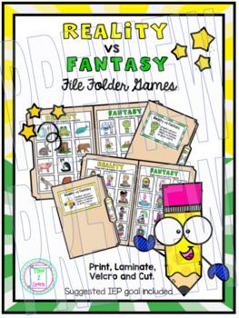 Reality vs Fantasy File Folder Game